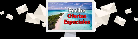 Ofertas especiales de vacaciones en playas en lista de correo